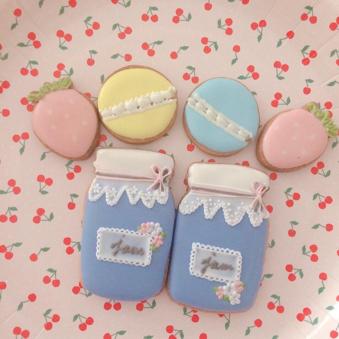 【ジャム瓶セット】アイシングクッキー!