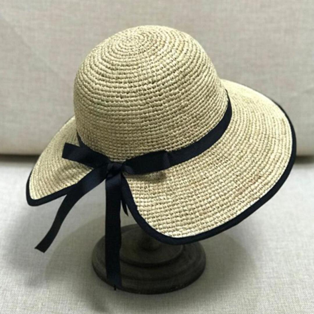 帽子☀ハット 夏帽子 夏 ストローハット 夏のお出かけ ハンドメイド 日よけ帽子 レディース アウトドア
