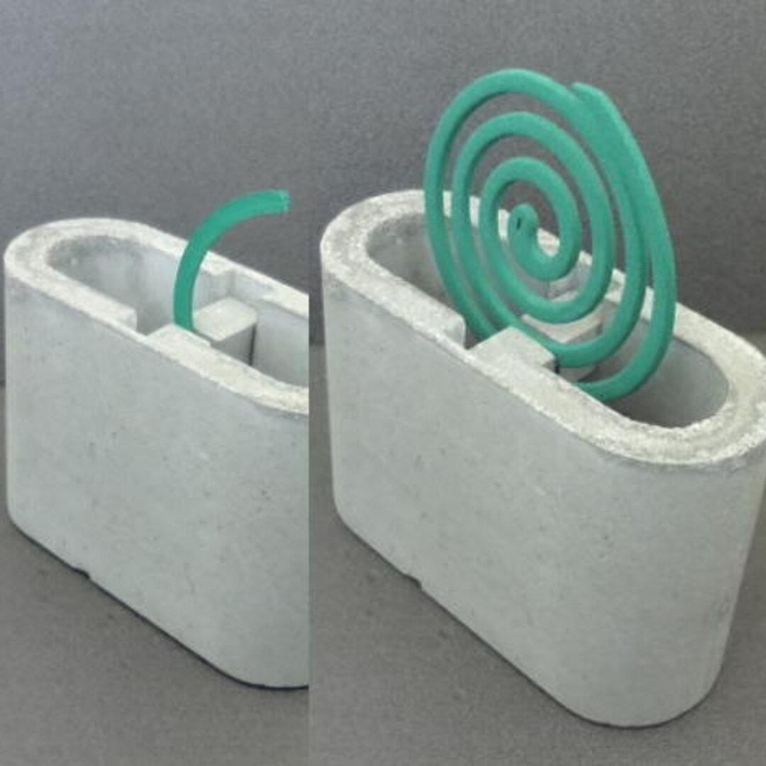 蚊取り線香ホルダー/蚊遣り コンクリート製