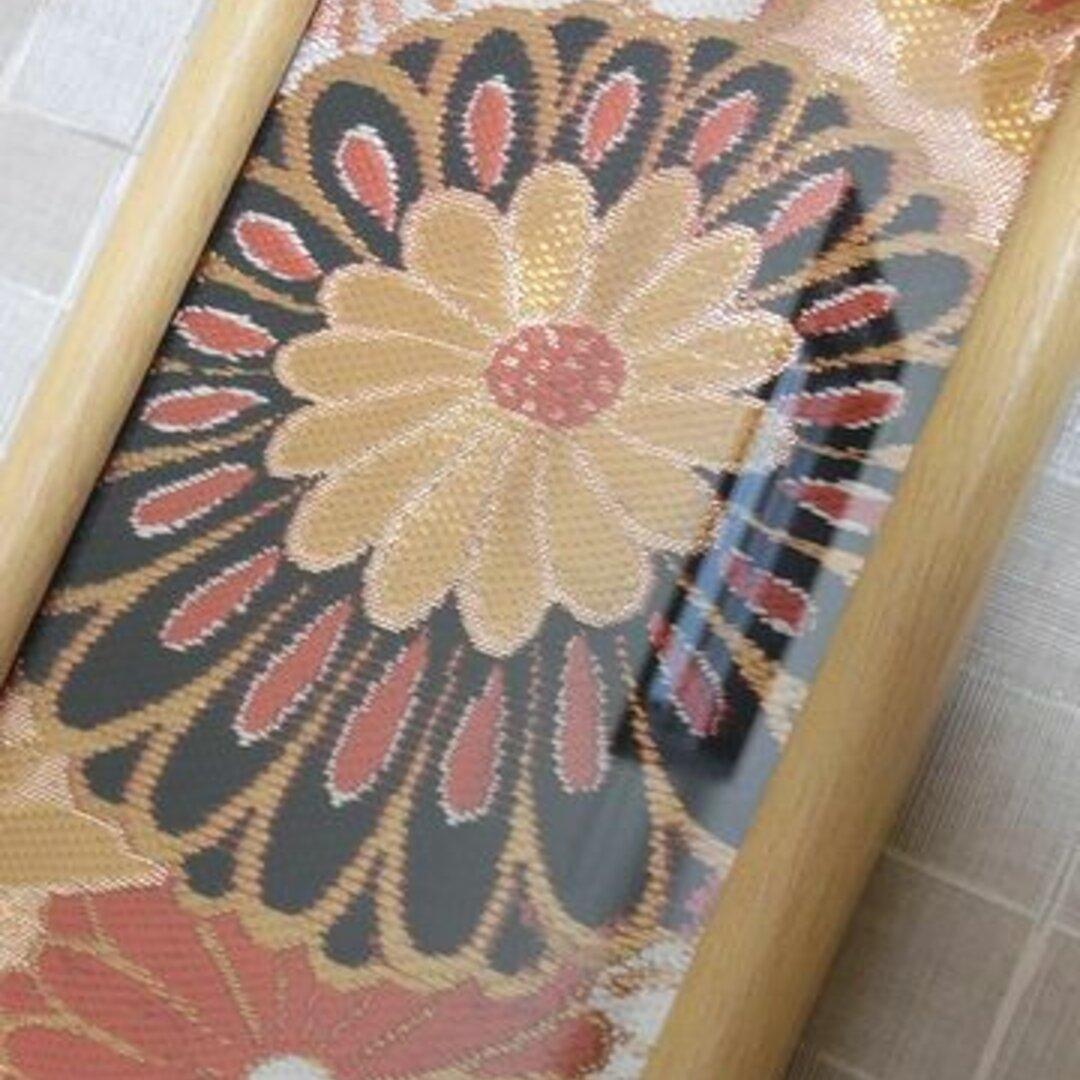 帯リメイク✿鶴と花柄の和インテリア織り名古屋帯のフレーム