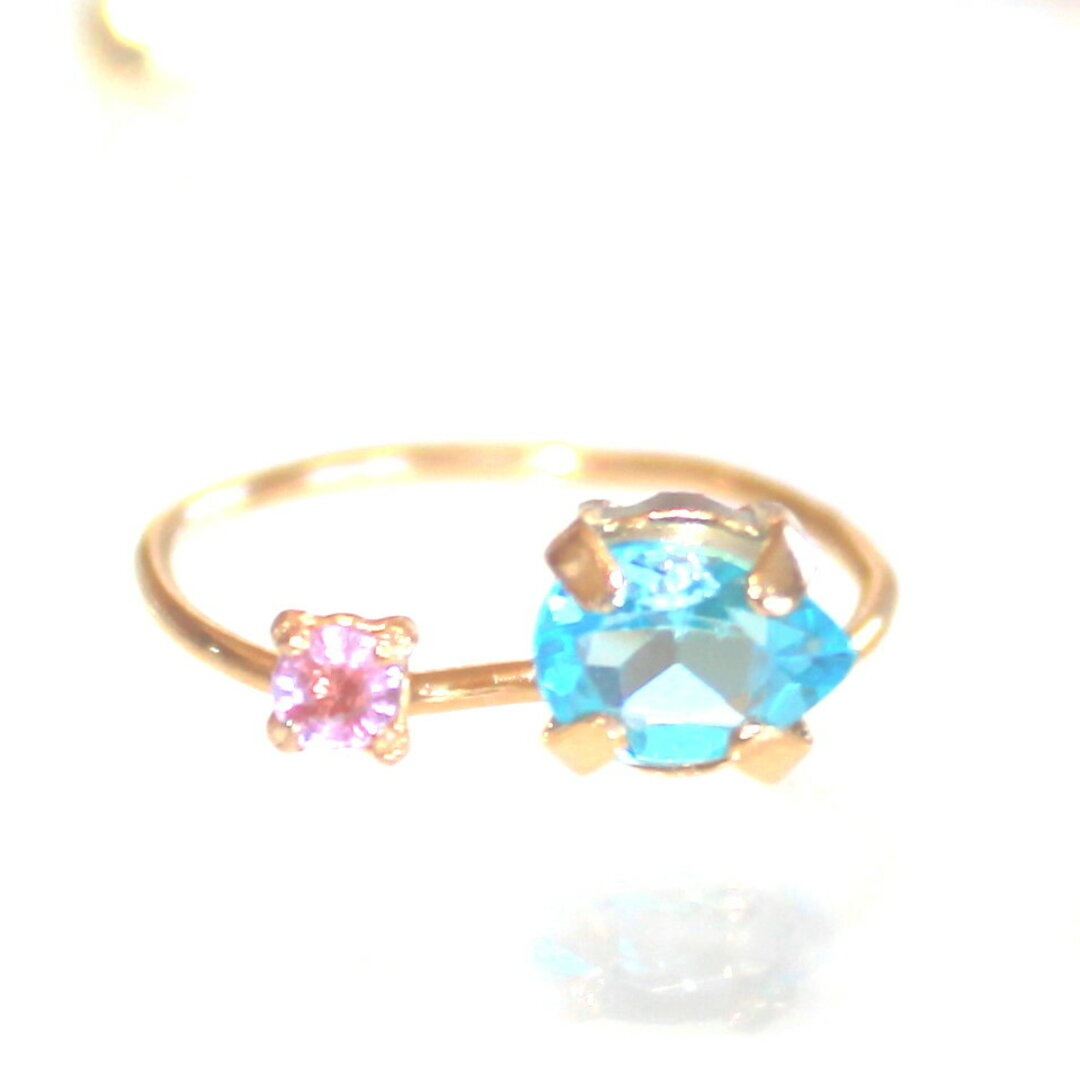 k10 - color - Pink Sapphire & Topaz Ring