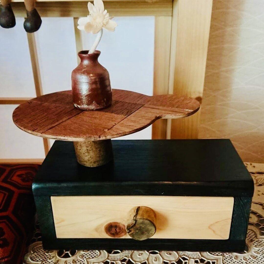 【24時間以内に発送】手作り木工 無垢材の小物入れ モダン雑貨