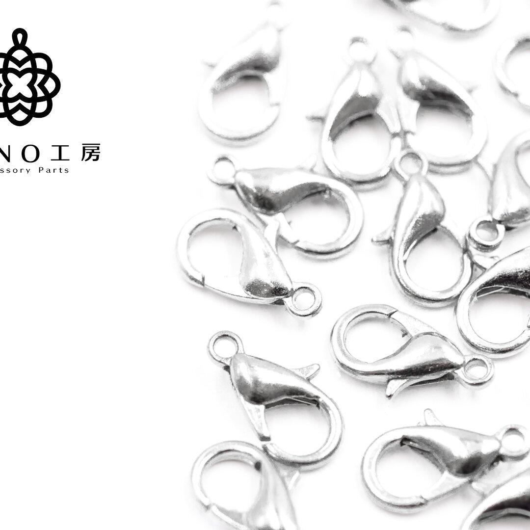 【lc-4】10mm カニカン シルバー★30個★ 基礎 素材 ピアス アクセサリー パーツ ネックレス