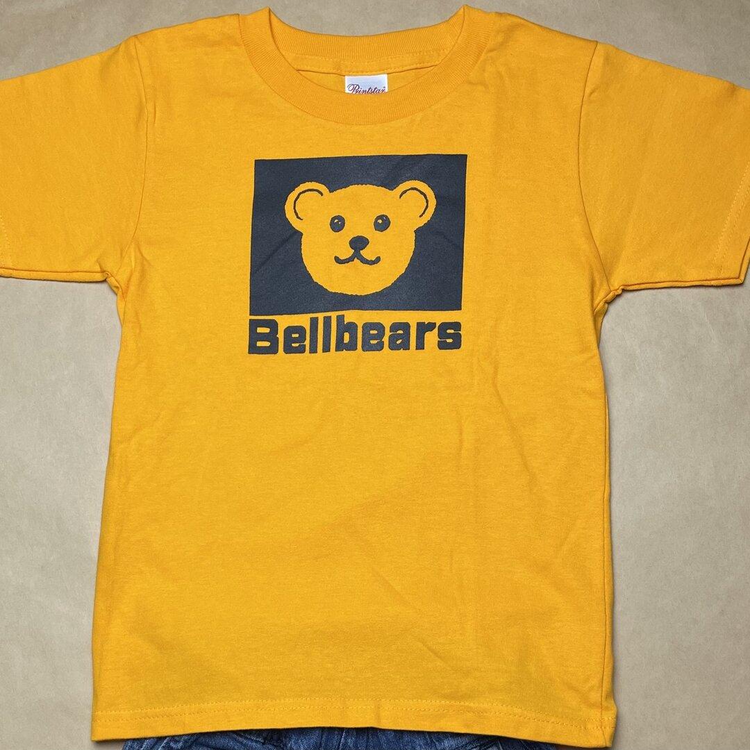 Bellbears キッズTシャツ【110㎝】ゴールドイエロー テディベア柄