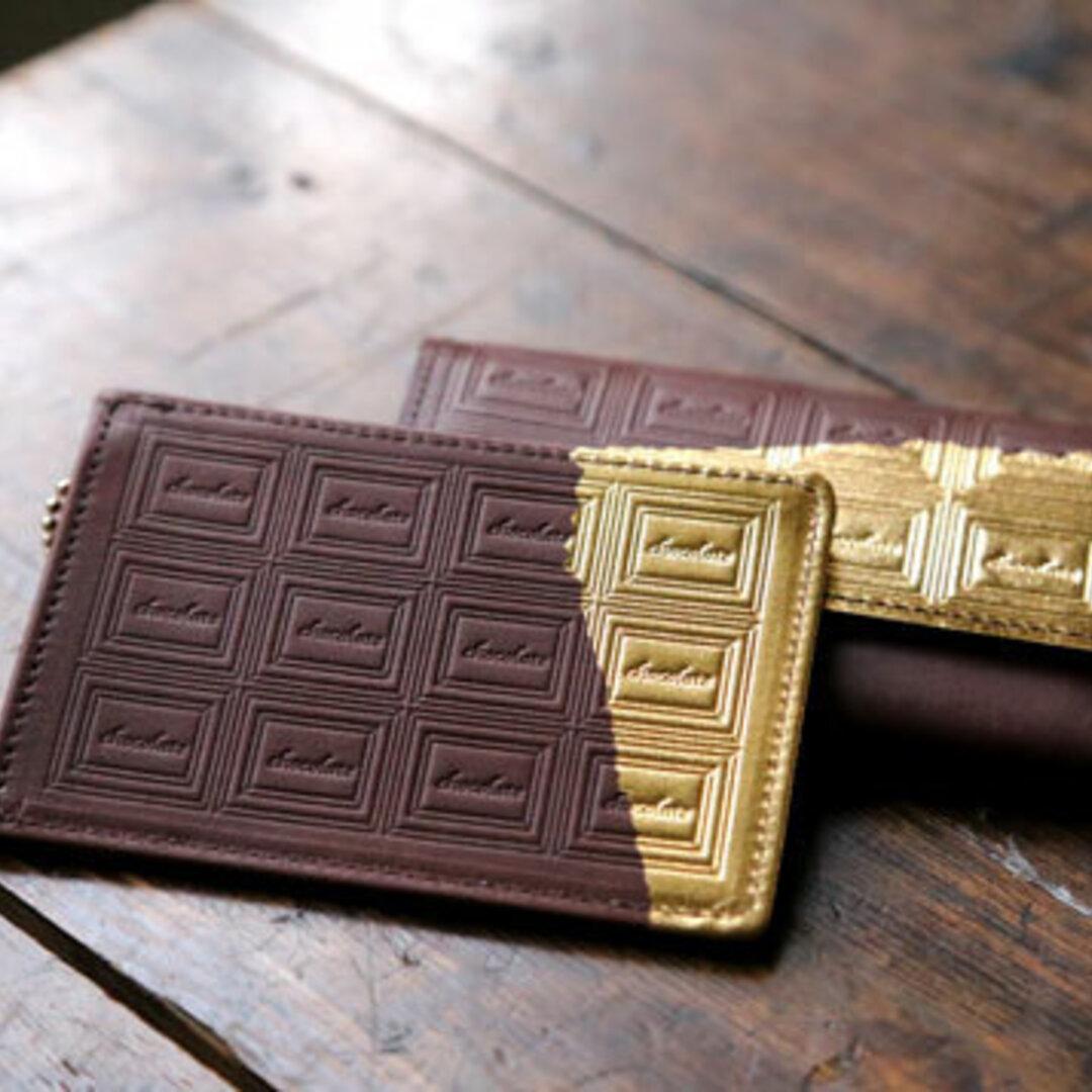 革のチョコレート・パスケース スイート(金の包み紙)