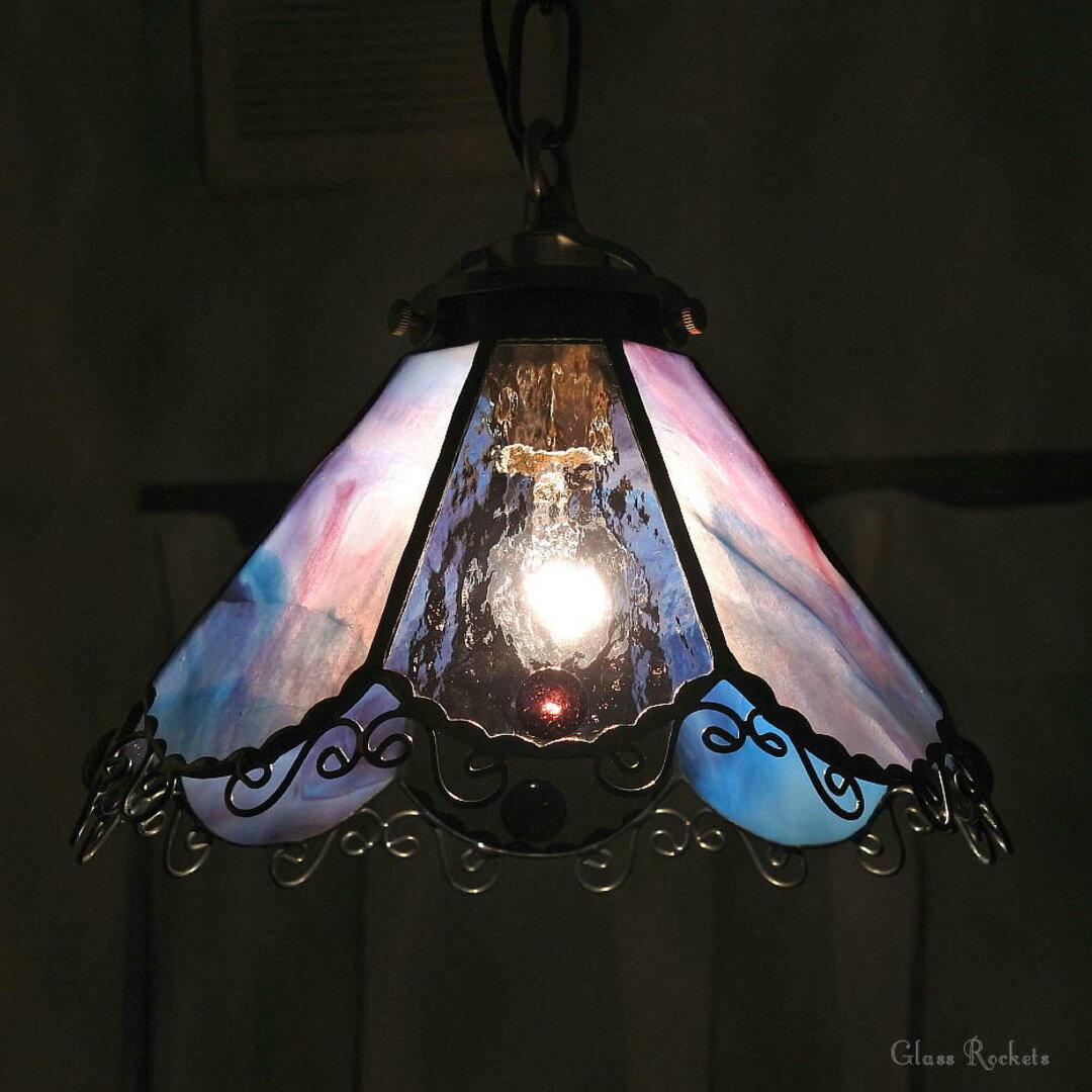 新色限定作品 キャンディーランプ ペンダント ステンドグラス 照明 ライト ランプ