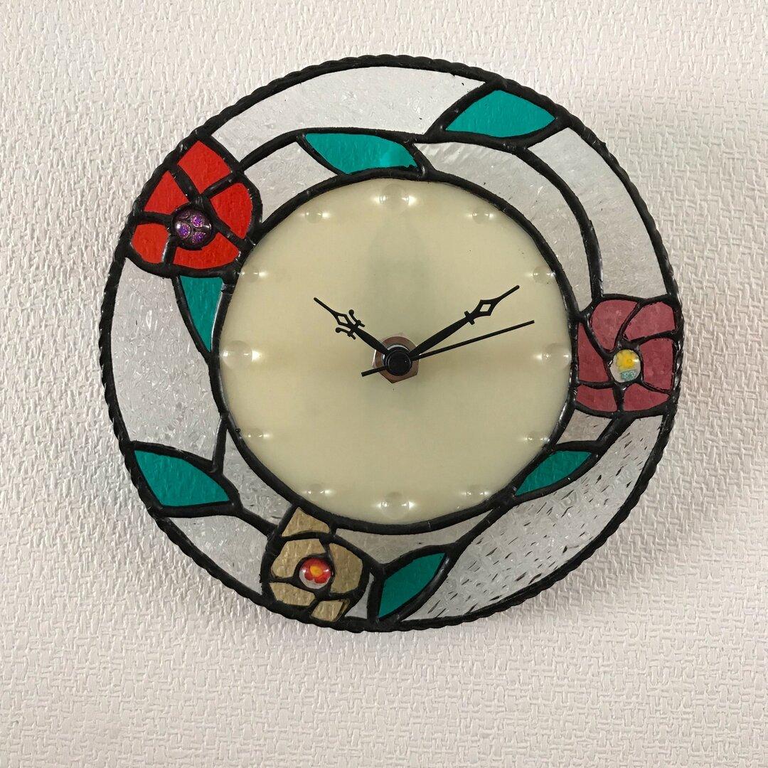 ステンドグラス時計
