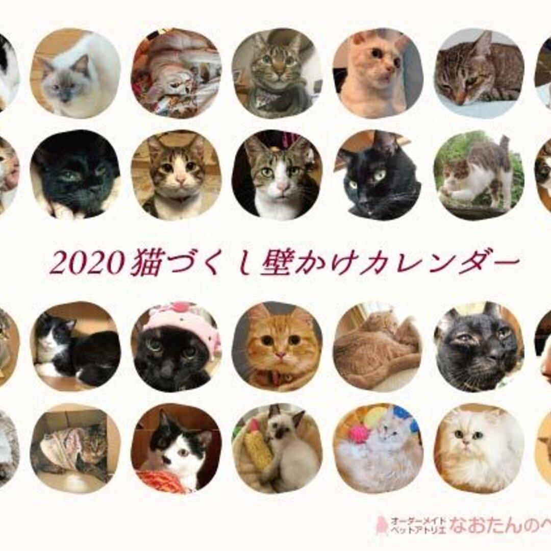 2020年 猫づくし壁掛けカレンダー
