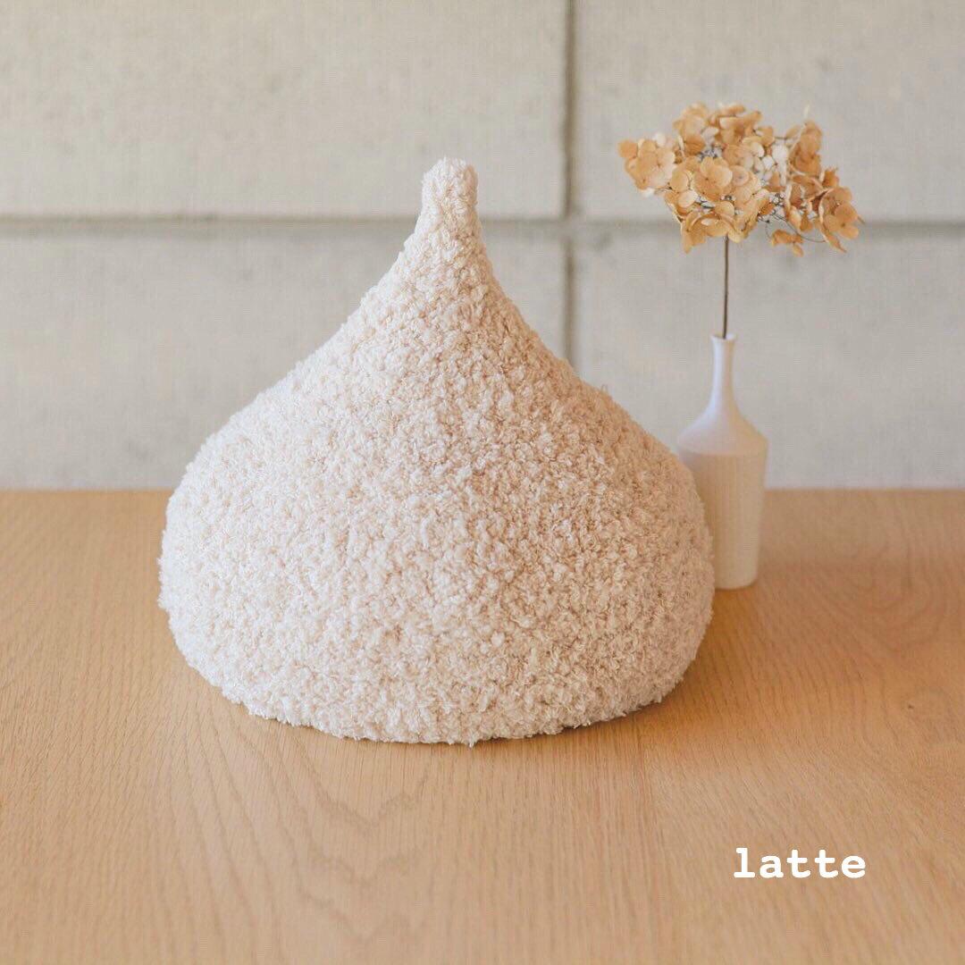 ふわふわマシュマロどんぐり帽子♡ (latte)
