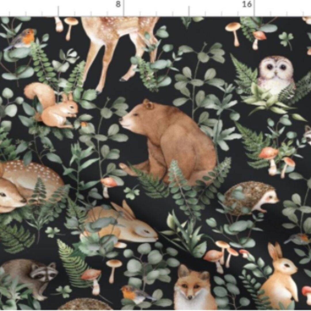 輸入生地 ふくろう オウル owl 鳥 バード フクロウ柄 ハンドメイド素材 生地 布 綿 布地