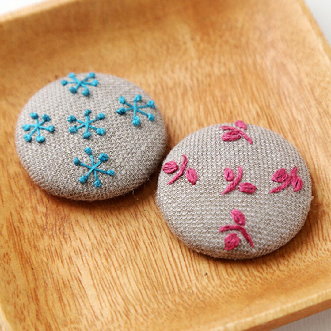 刺繍のマグネット 2個セット