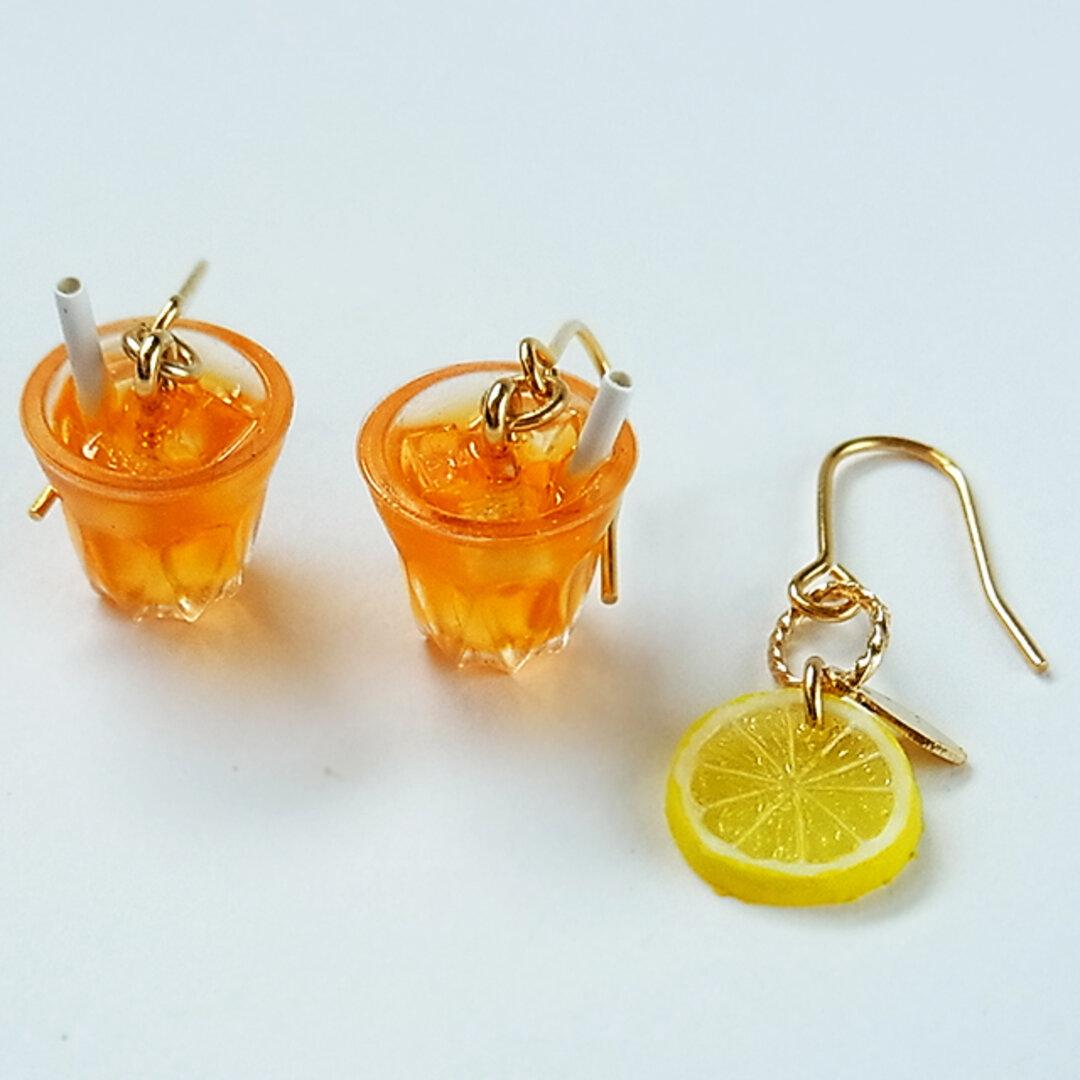 アイスティー&レモンのピアス