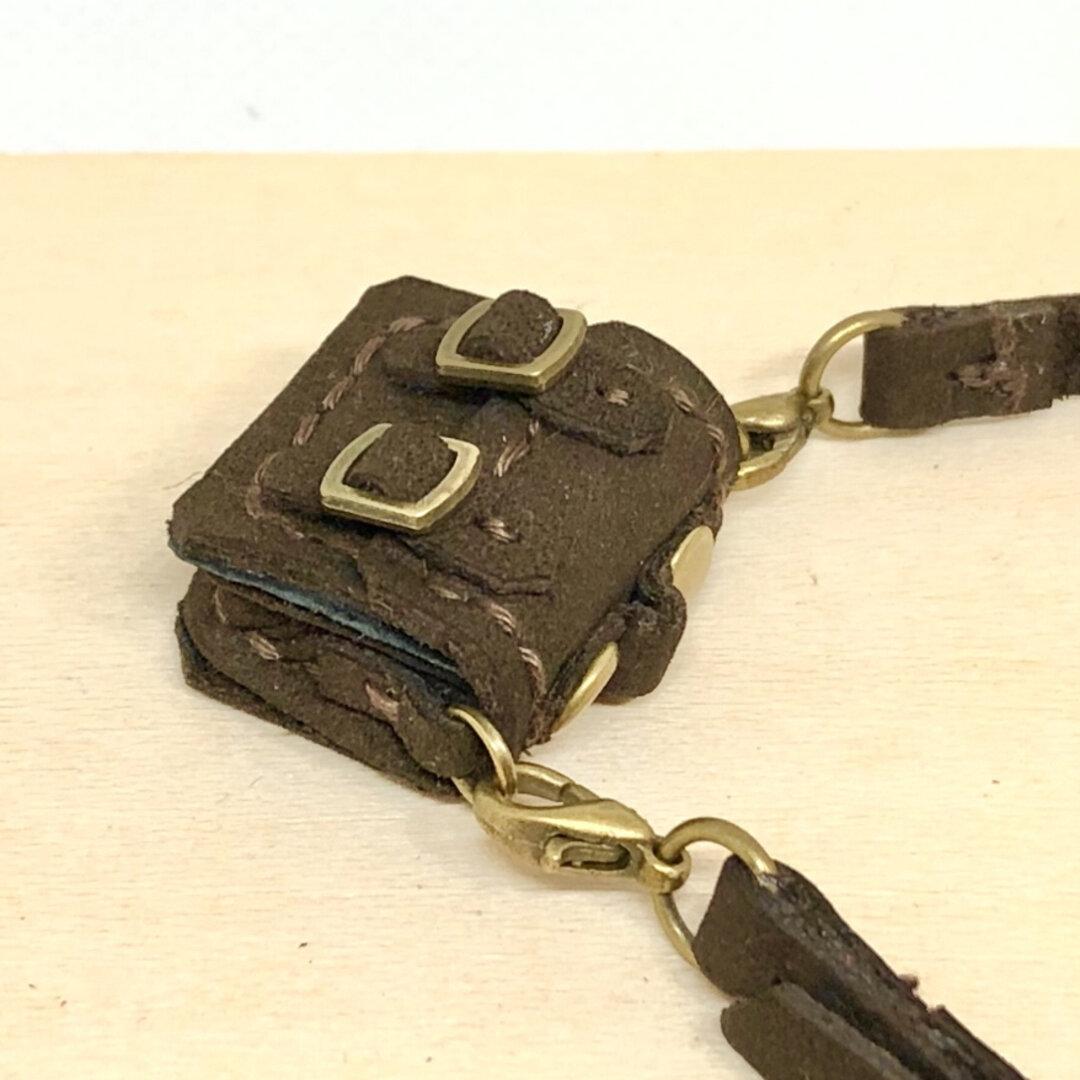 革細工 マイクロかばん 艶消し 調整紐 一つ micro  bag.