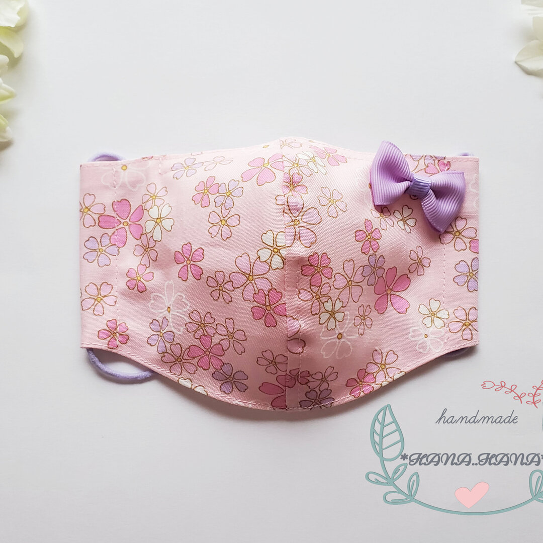 🎀 可愛い ❤ 子供用マスク 花柄 桜 🎀