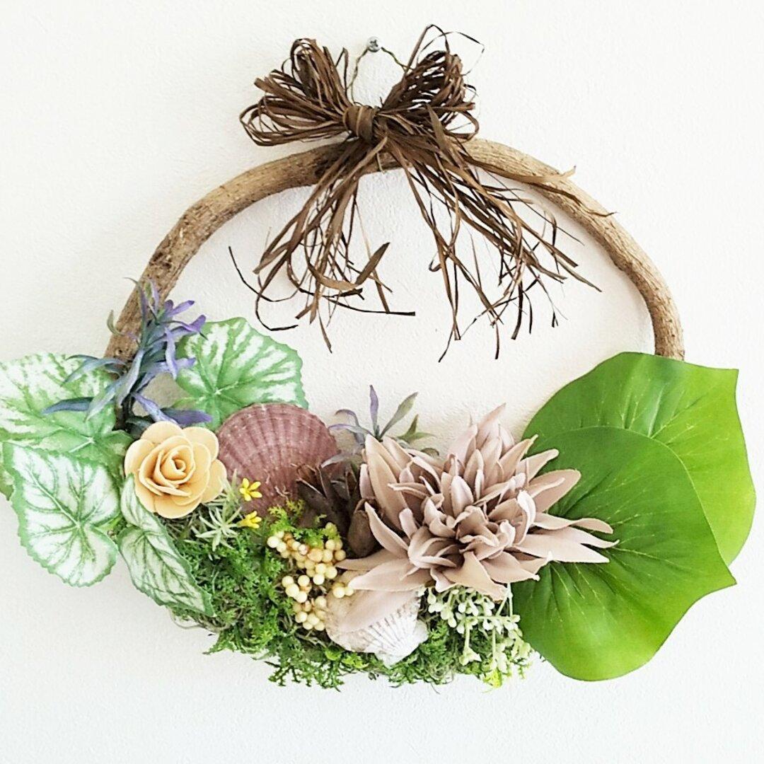 玄関リース     elegant      結婚記念日、母の日、ウェディング、記念日ギフト
