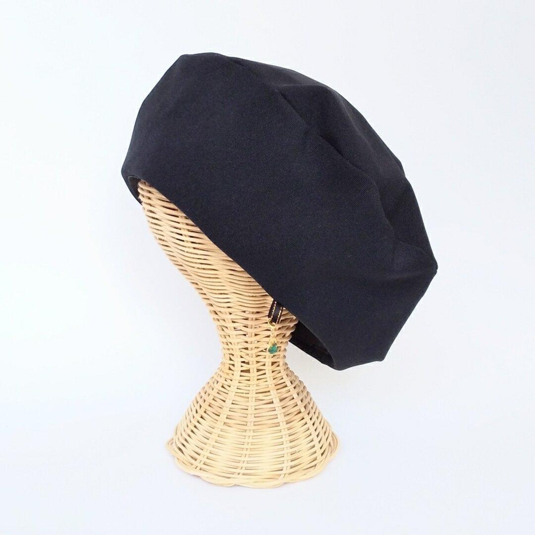 チャームが付けられる✨黒ベレー帽