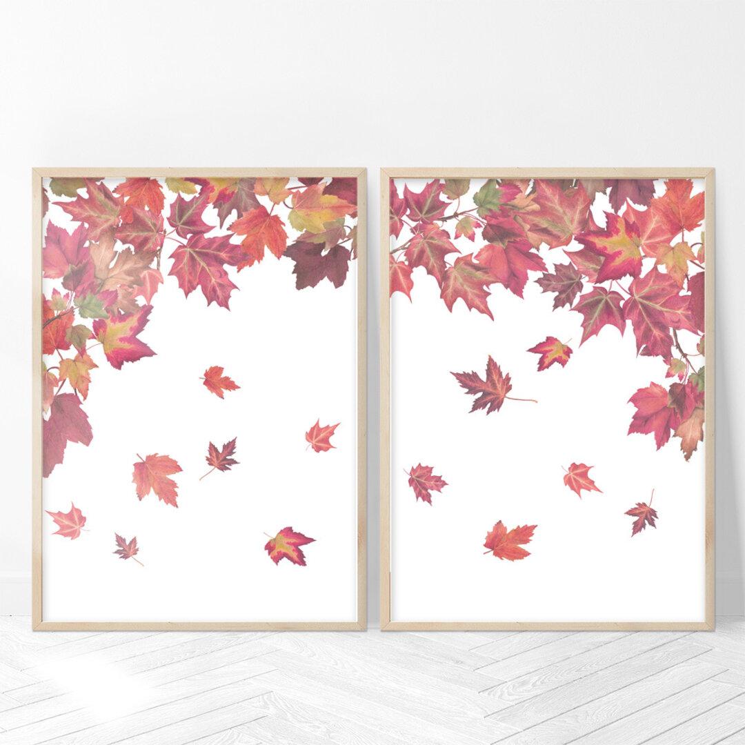 [2枚セット]紅葉 アートポスター (29_AutumnLeaves)