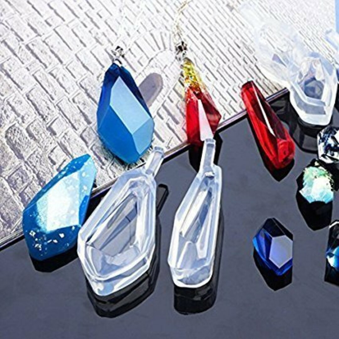 ダイヤ 3点セット 鉱石 レジン シリコンモールド 宝石 ネックレス アクセサリー パーツ 作成 シリコン モールド 型