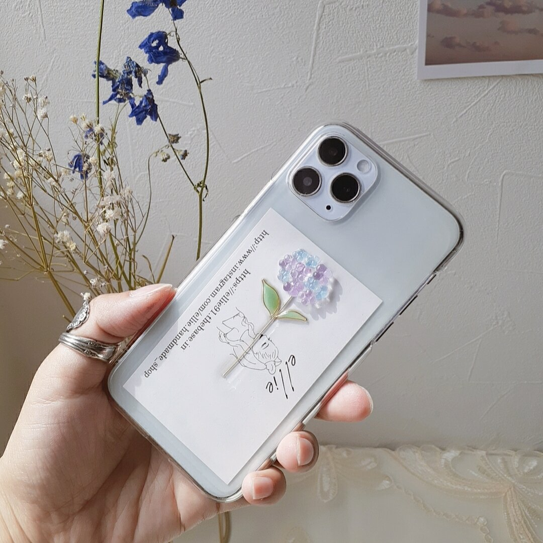紫陽花iPhoneケース