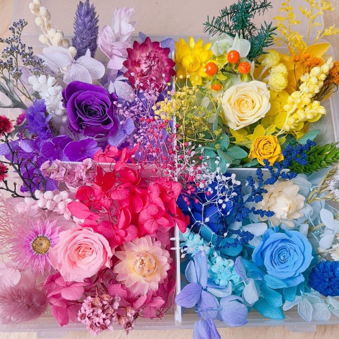 プリザーブドフラワー花材 ハーバリウム花材 ドライフラワー