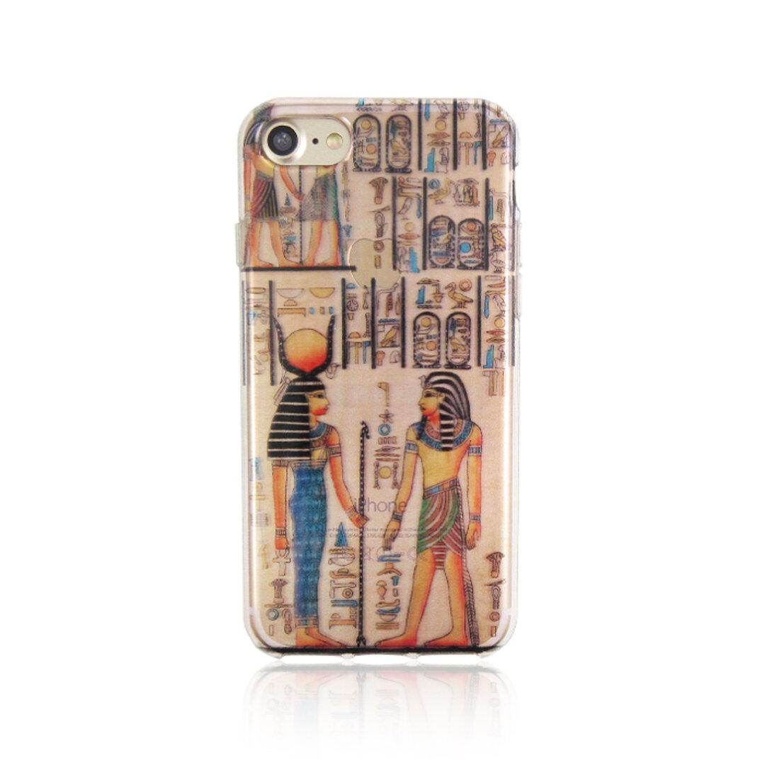 【選べる機種】エジプト壁画柄 クリアソフトスマホケース