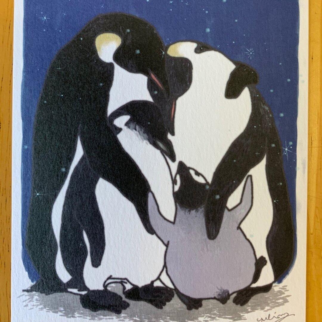 3枚組*雪舞う夜のポストカード【送料込】
