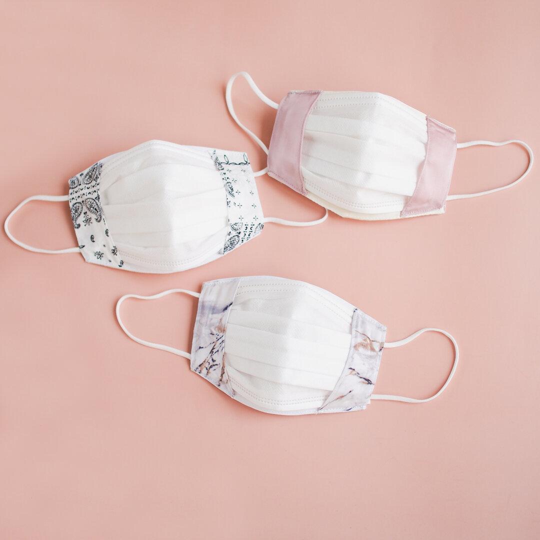 《付けないより息しやすい》 シルク マスクカバー 美容 美肌 敏感肌 不織布マスク 二重マスク インナーマスク 日本製
