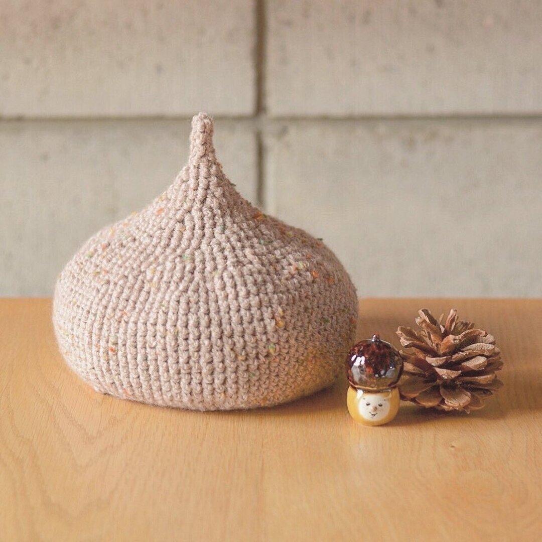 ベビーツイード どんぐり帽子♡ ( pink beige)