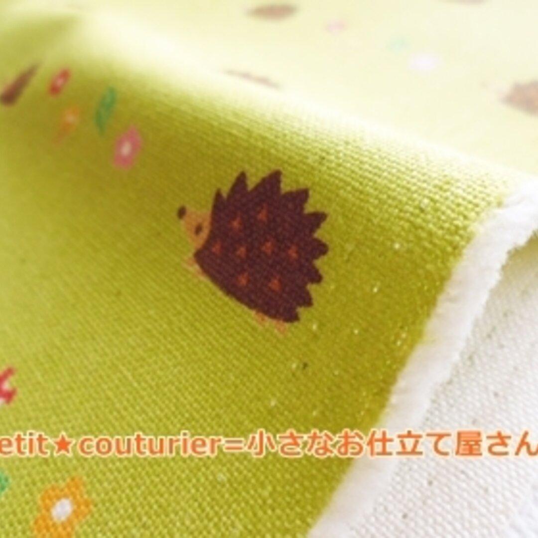 【送料無料】 No.446-green はりねずみ模様の綿麻ハンプ 50×50 グリーン