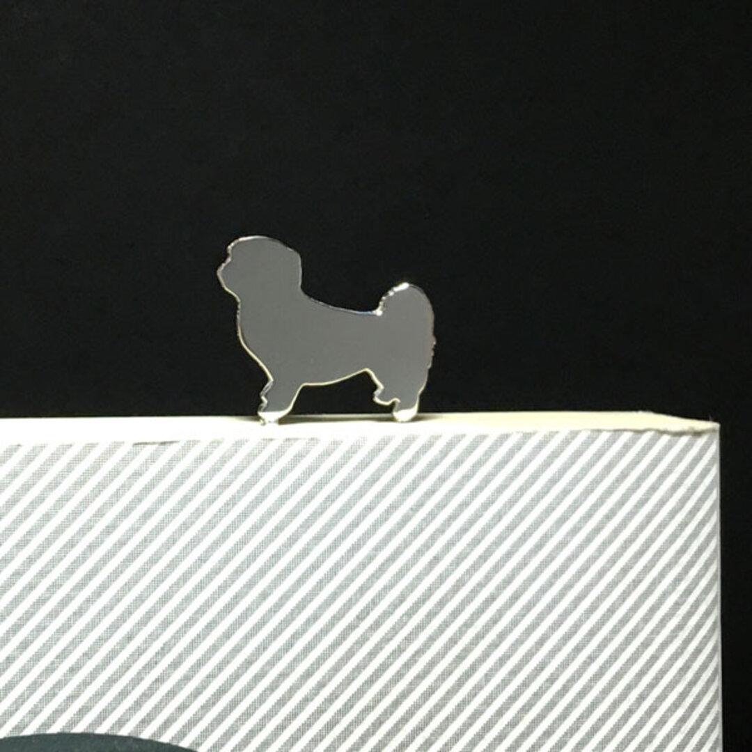 Dog-BookMark-12 シーズー シルバーブックマーク しおり 犬 イヌ