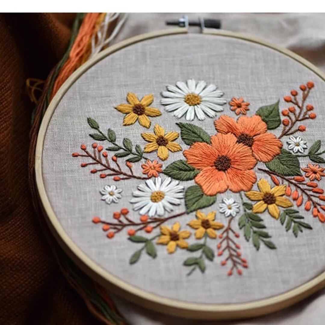 22花模様 刺繍作成キット