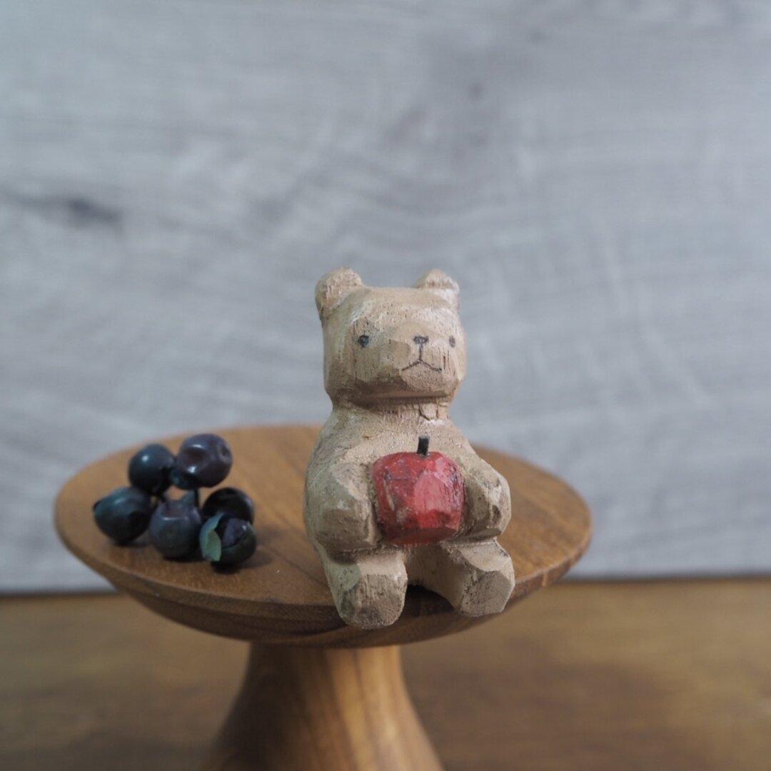 おすわりクマ 木彫り #145