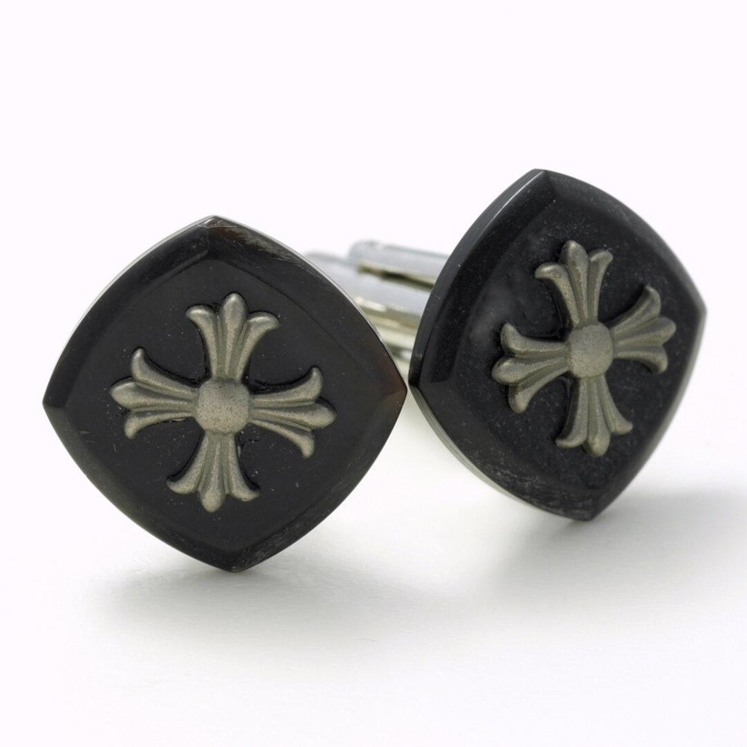 ブラックの十字架がおしゃれなカフスボタン Advanced 031
