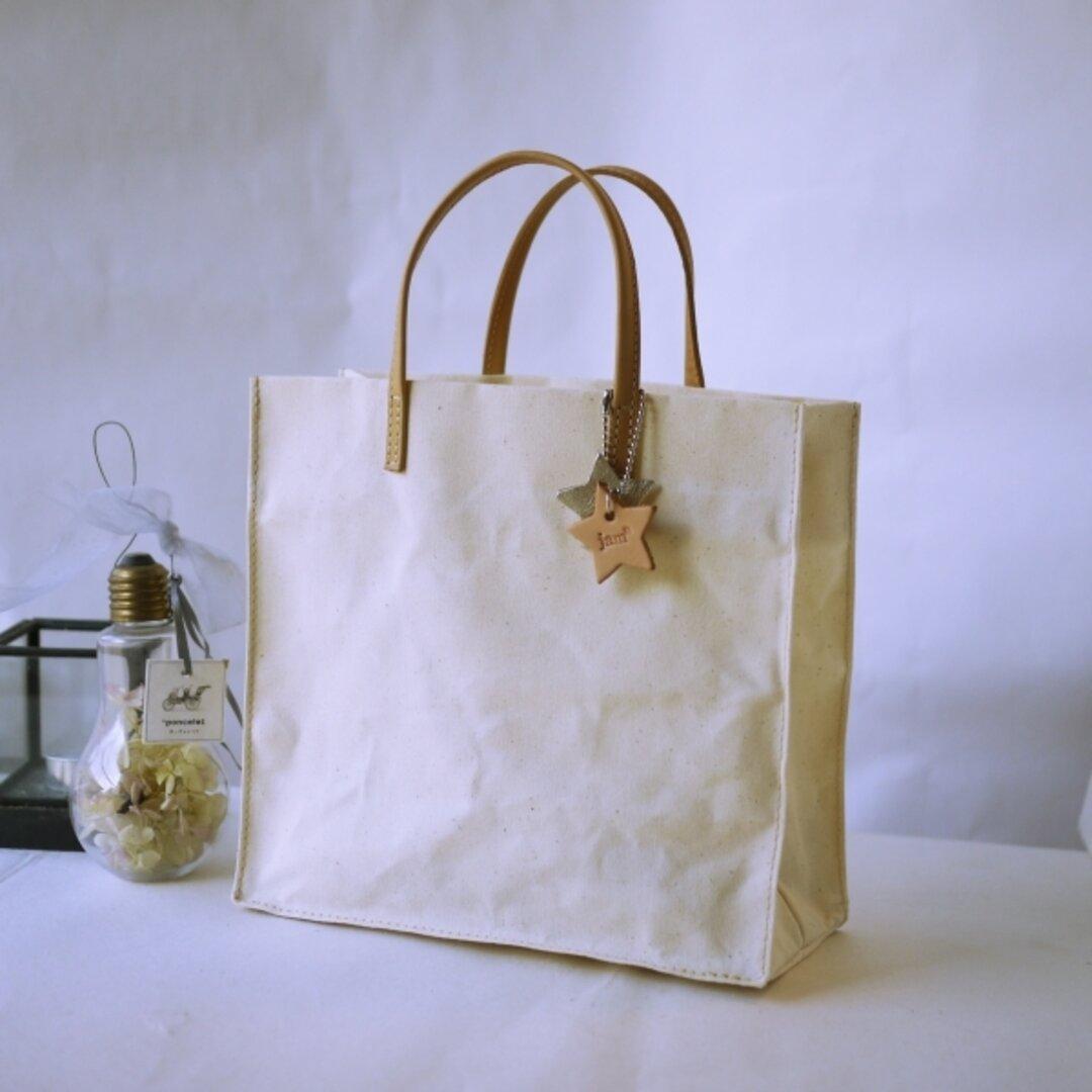 『長く使える紙袋』パラフィンキャンバスで作った紙袋風トート(薄手の小)