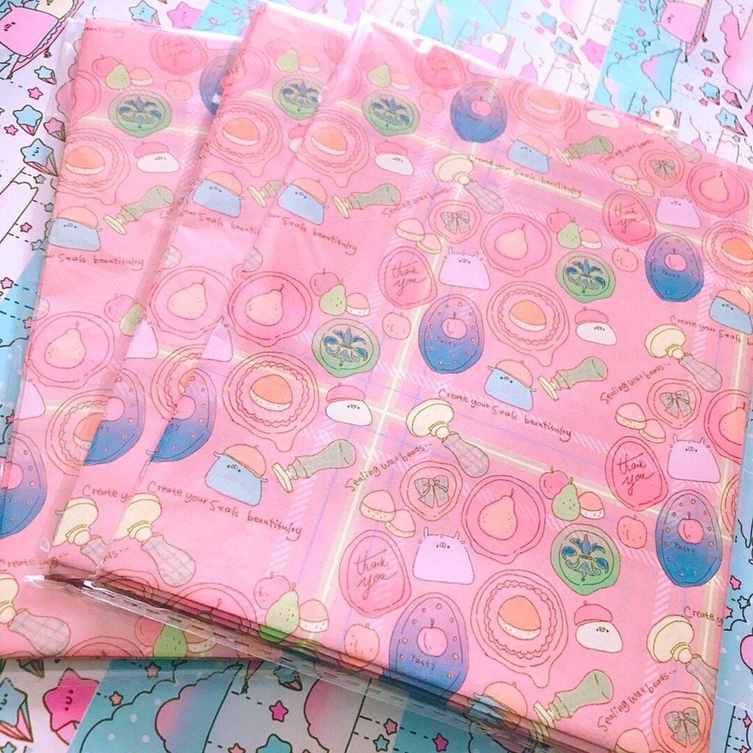ぱげズと秋シーリングスタンプ紙袋❀.°❀.°✿5枚セット(レッド)