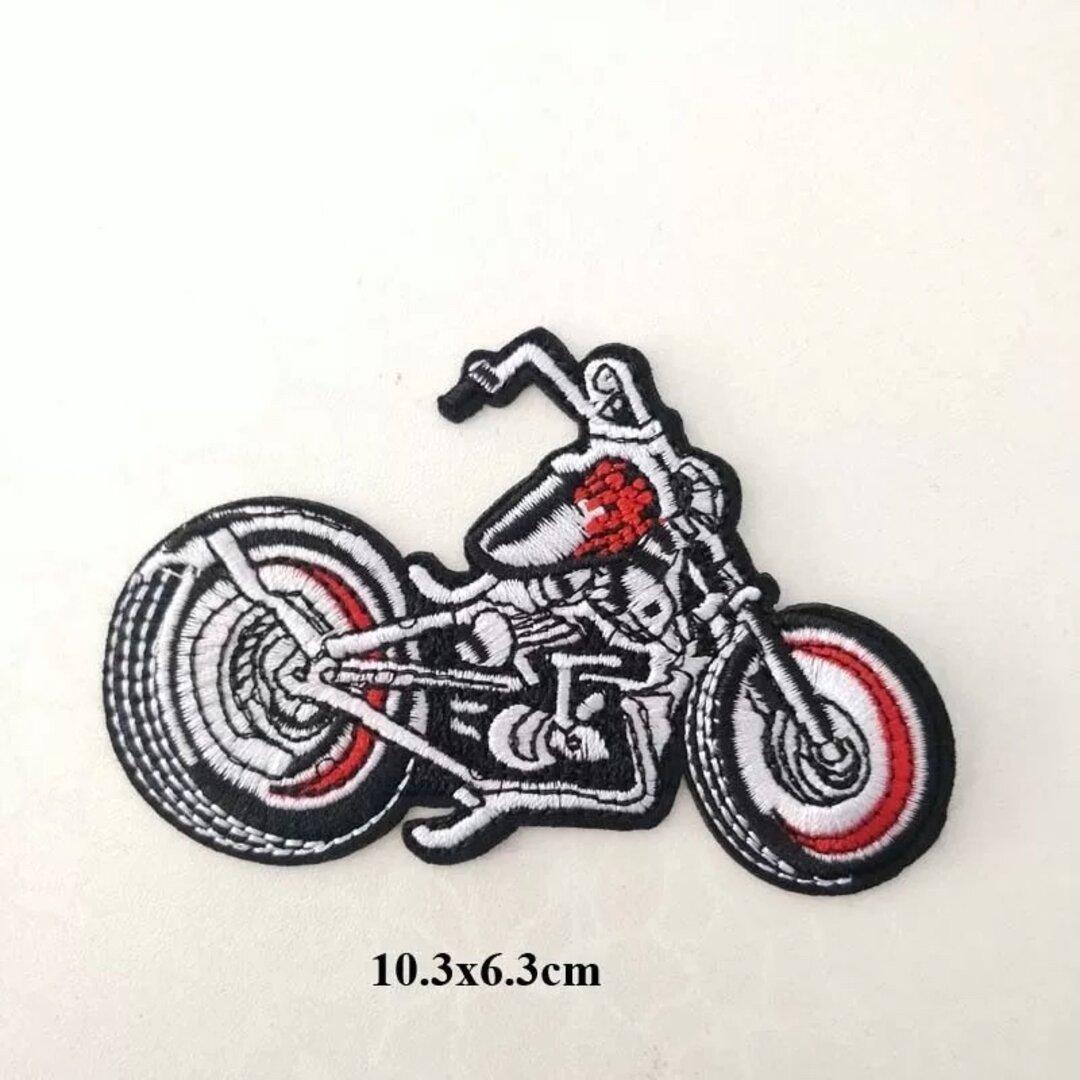 No15バイクアイロンワッペン刺繍ワッペン