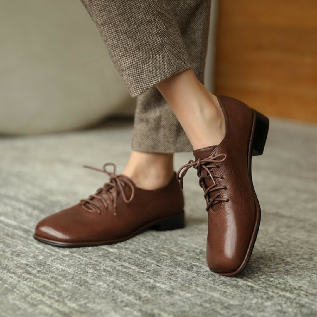 ★21秋冬新作★やぎ革 シンプルなデザイン パンプス 本革靴レディース 2色