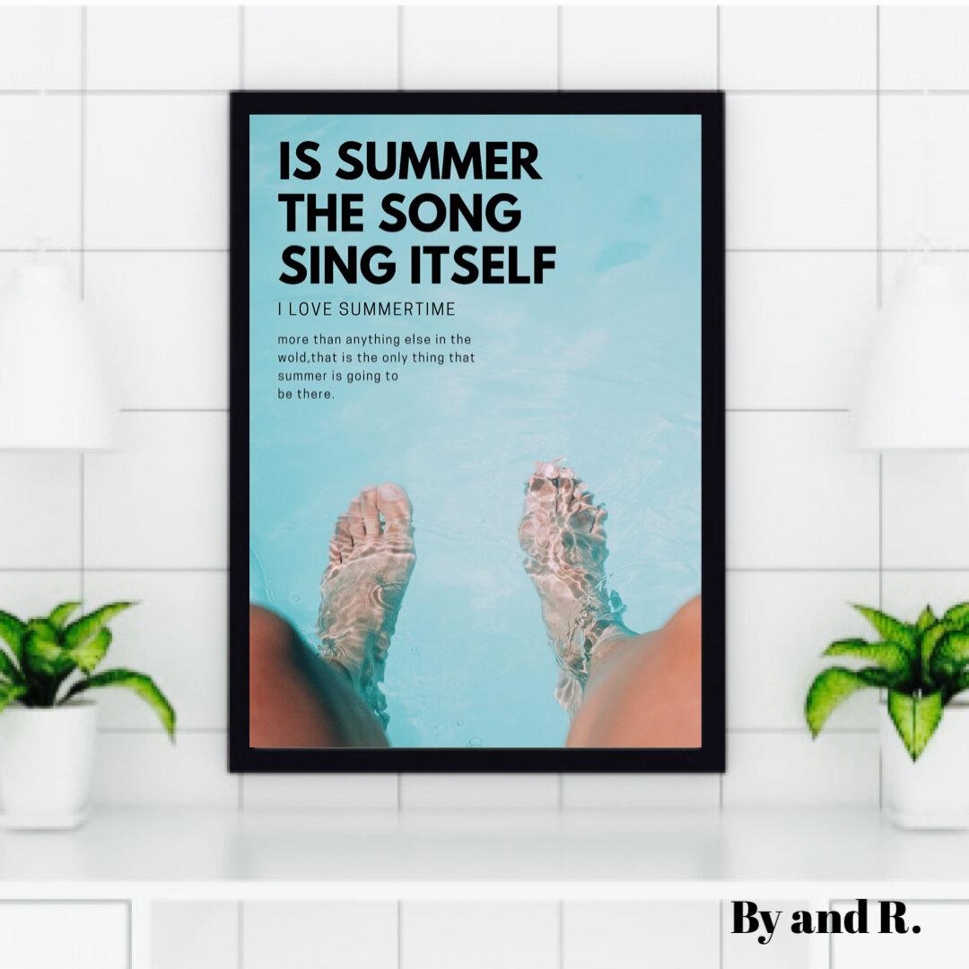 インテリアポスター◆夏◆海◆名言◆北欧