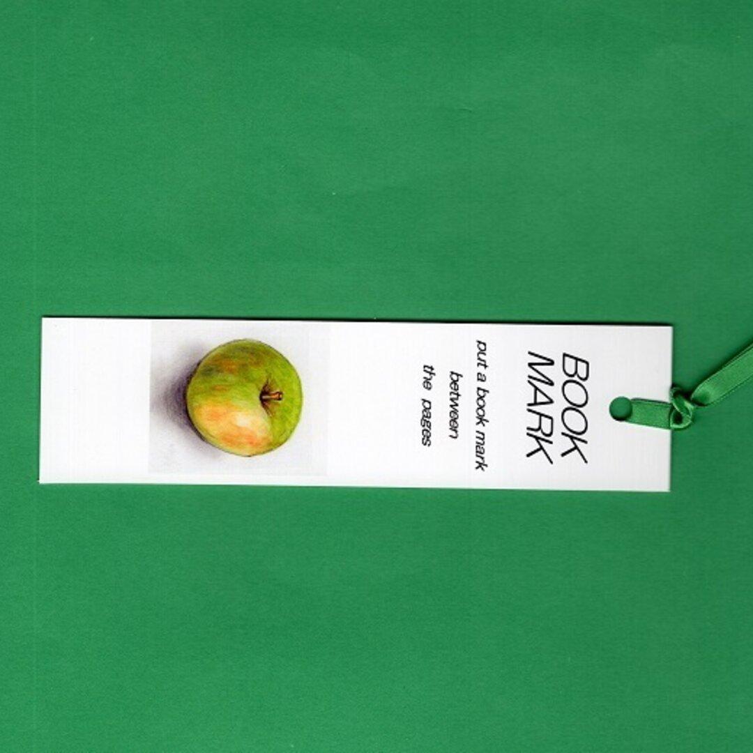しおり2枚 両面癒しのイラスト  夏のりんご