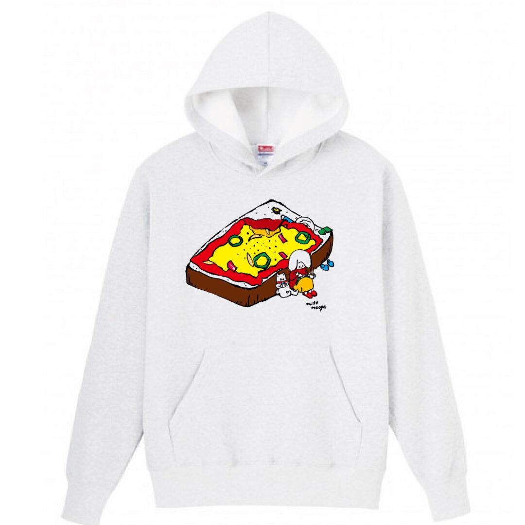 休日ピザトーストパーカー