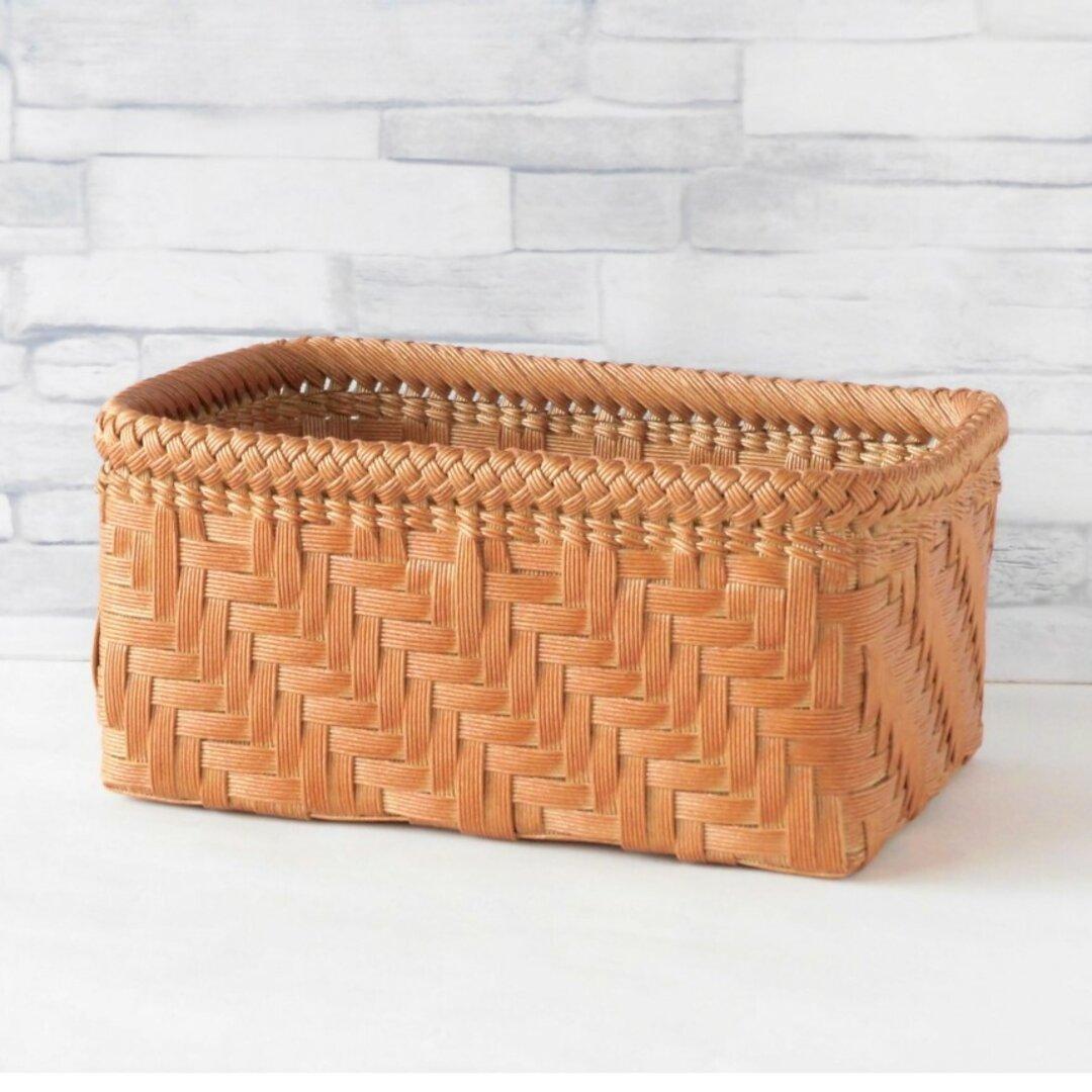 網代編み卓上かご