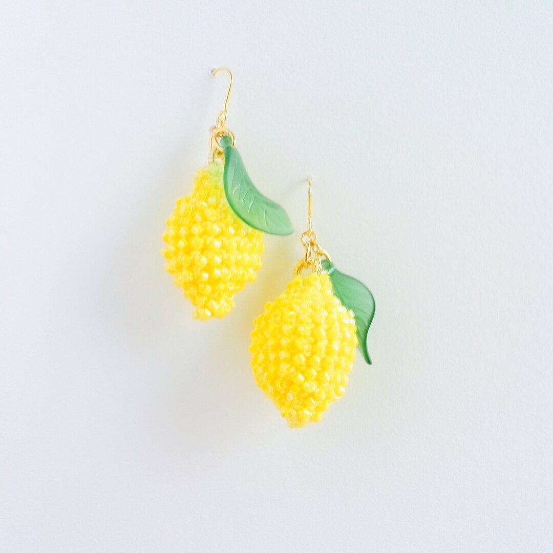 きらきら檸檬ピアス&イヤリング