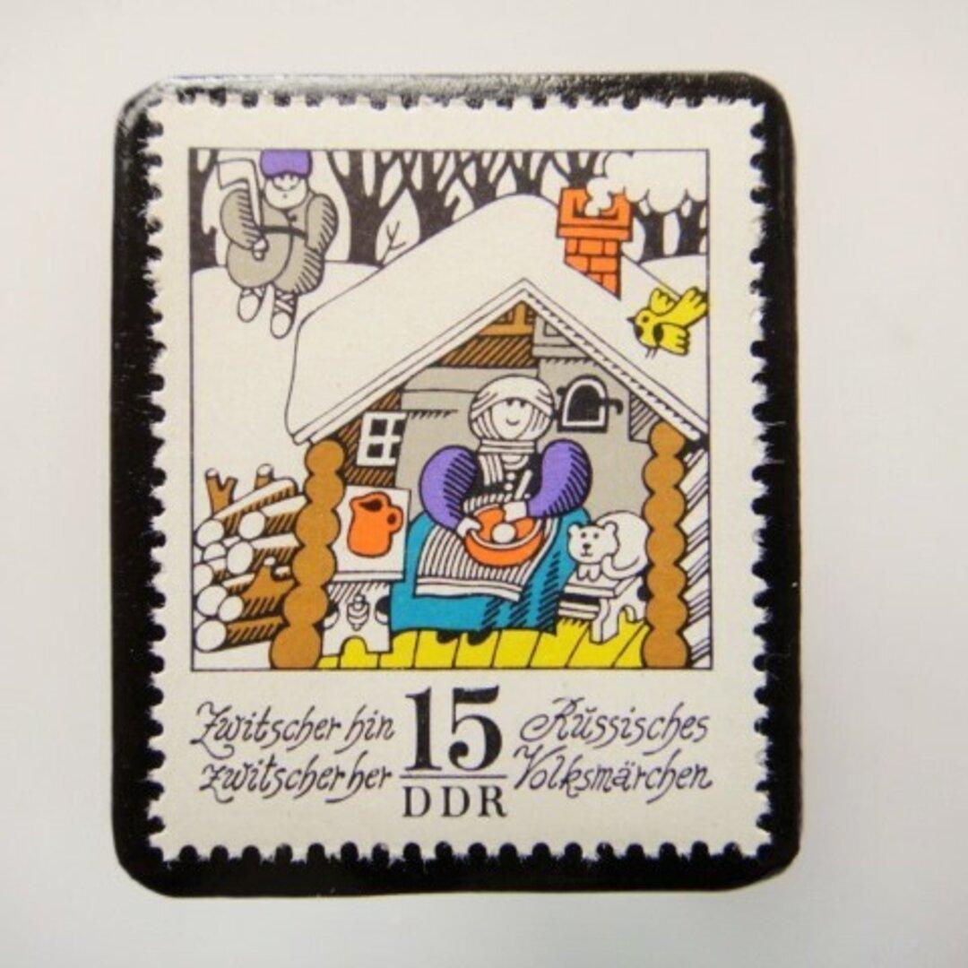 旧東ドイツ  童話切手ブローチ4611