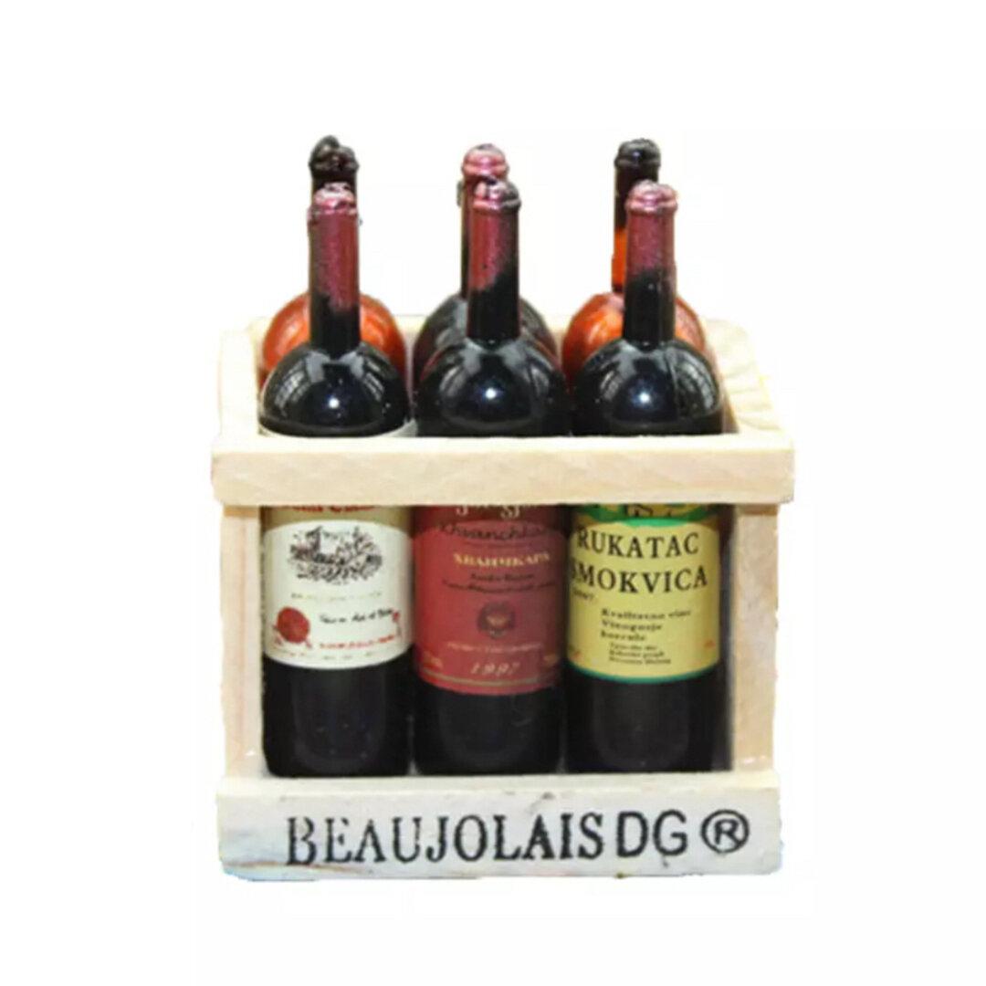 1BOX ミニチュア ドリンク アルコール ワイン ボックス 赤ワイン 白ワイン シャンパン お部屋の 小道具 アイテムドール用 パーツ ドル活 お部屋に小物
