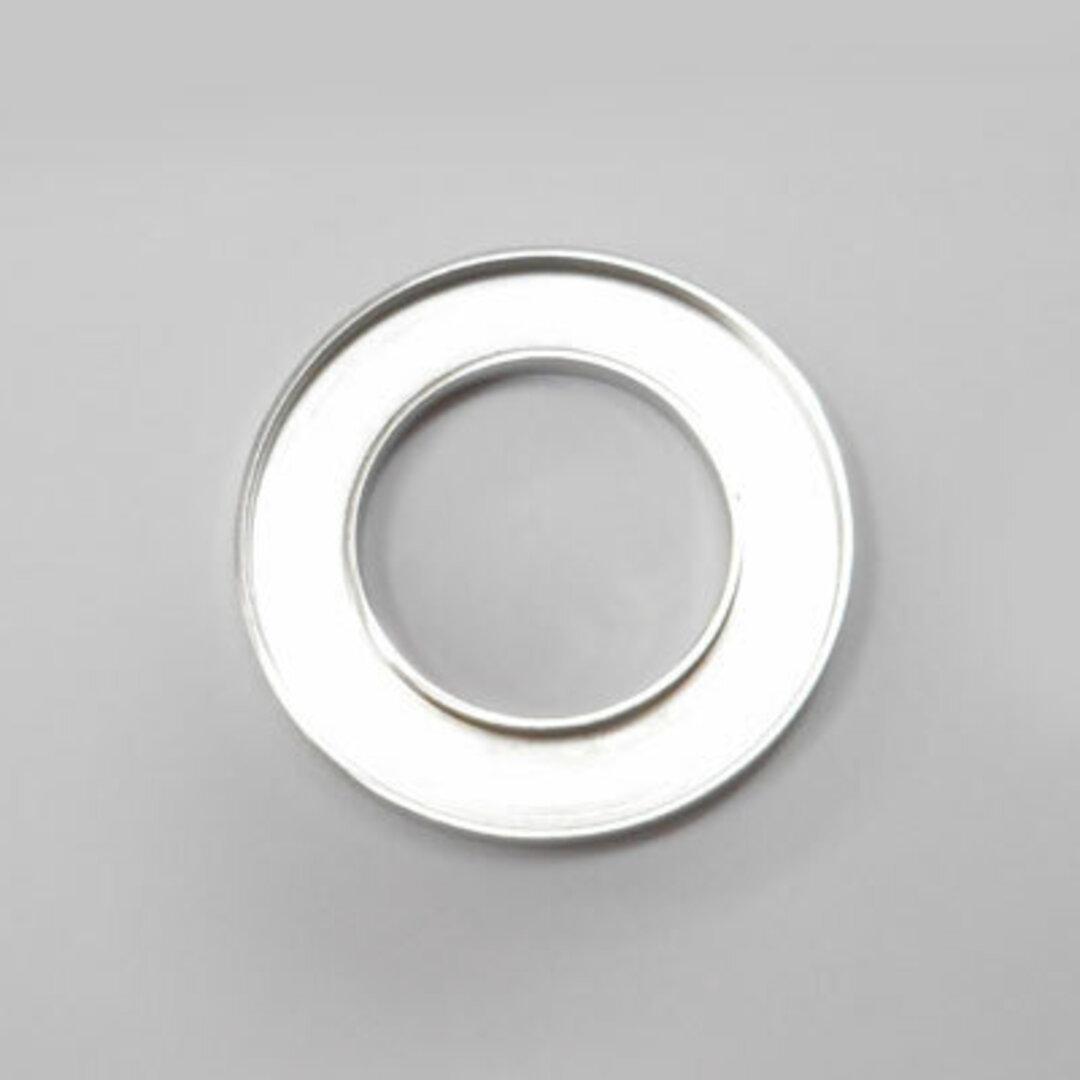 S◆Pキラキラ アクセサリー パーツ サークル 円形 チャーム 外径:25.0mm 手作り (ハンドメイド) ペンダントフレーム パーツ ステンレス316L (ステンレスカラー)