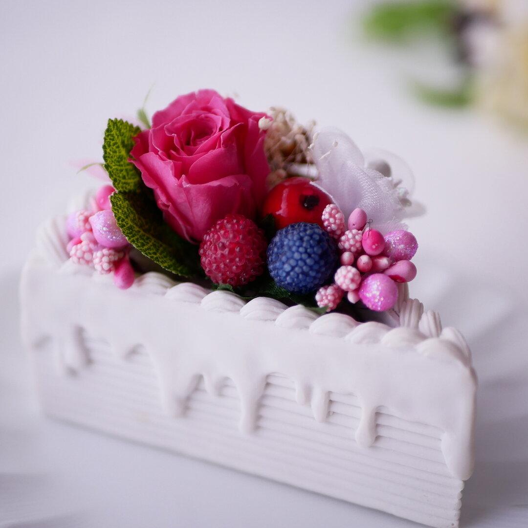 ピンクベリーのピースケーキ