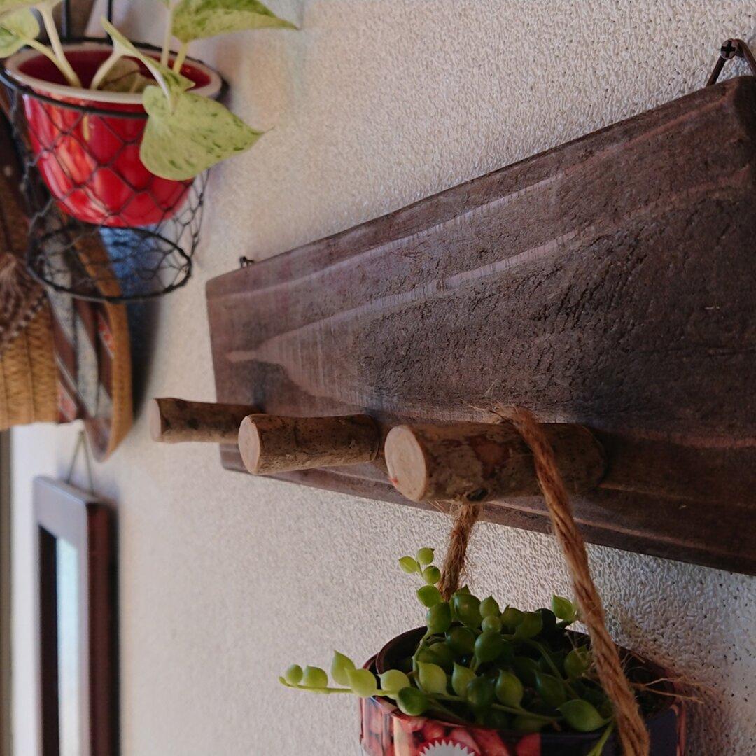 ☆★玄関やちょっとしたスペースに★☆子どものアウター☆帽子☆ハンガー掛けに♪天然木を使ったかわいい壁掛けナチュラルフック♪