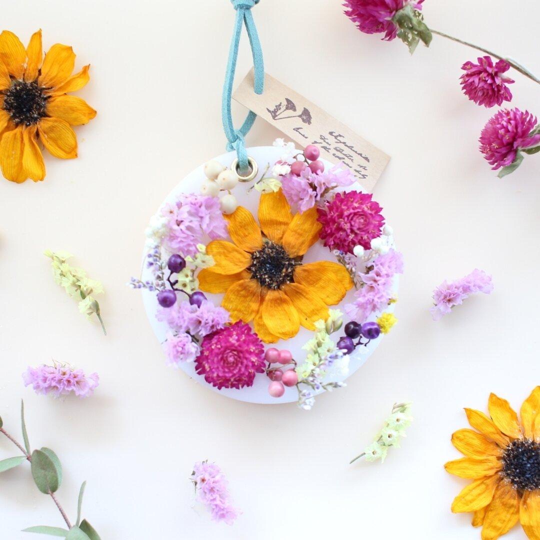 【 ひまわりのお花畑 】 香りが選べるキャンドル ひまわり 夏 アロマワックスサシェ