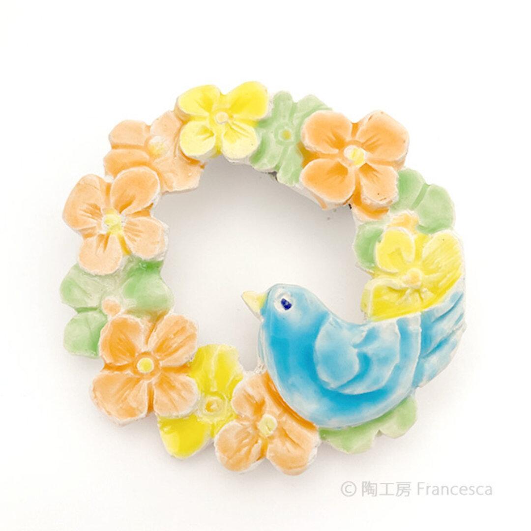 花と小鳥のブローチ005