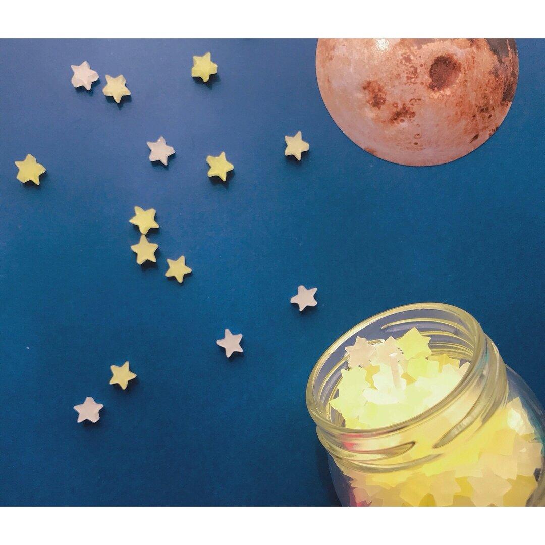 オレンジの香り 星の金平糖キャンドル 瓶入り小さめキャンドル